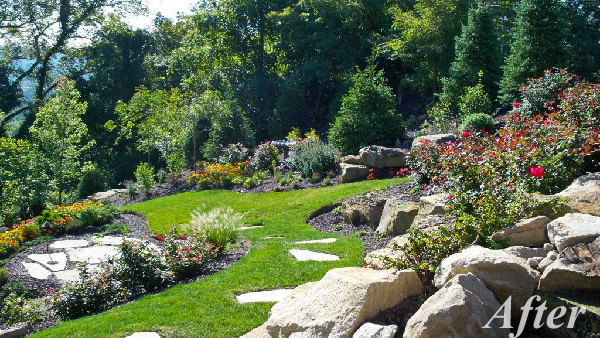 Tiered Backyard Pictures : sloping tiered gardens sloping tiered gardens the full view back steps
